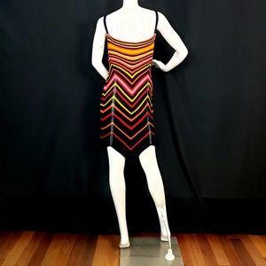 Nasty Gal Dresses - NASTY GAL Chevron Multi-Color Knit Mini Dress /NWT